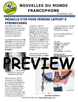 Biweekly news summaries for French students: February 18, 2018