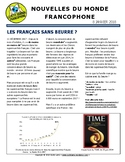 Biweekly news summaries for French students: January 8, 2018