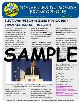 Biweekly news summaries for French students: May 7, 2017