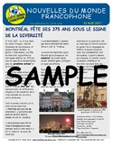 Biweekly news summaries for French students: May 21, 2017