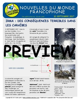 Biweekly news summaries for French students: September 10, 2017