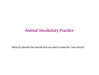 Bizarre Animals - Fun Foreign Language Practice