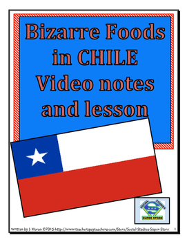 MIDDLE SCHOOL - Bizarre Foods in Chile