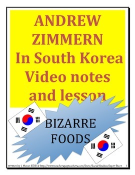 Bizarre Foods in South Korea - MIDDLE SCHOOL