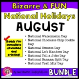 Bizarre and FUN National Holidays to Celebrate your Staff (AUGUST BUNDLE)