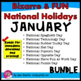 Bizarre and FUN National Holidays to Celebrate your Staff (JANUARY BUNDLE)