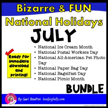 Bizarre and FUN National Holidays to Celebrate your Staff (JULY BUNDLE)