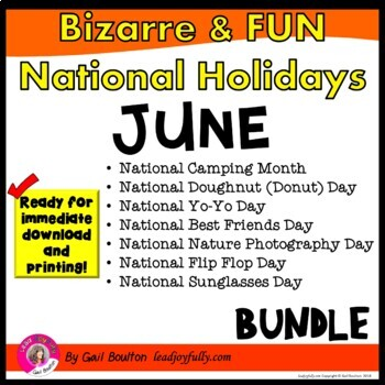 Bizarre and FUN National Holidays to Celebrate your Staff (JUNE 2019 BUNDLE)