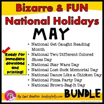 Bizarre and FUN National Holidays to Celebrate your Staff (MAY BUNDLE)