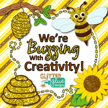 School Bees Clip Art   Scrapbook Paper, Frames, Page Borders for Back to School