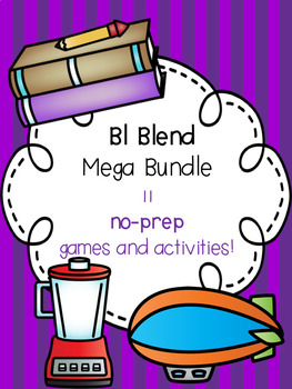Bl Blend Mega Bundle! [11 no-prep games and activities]