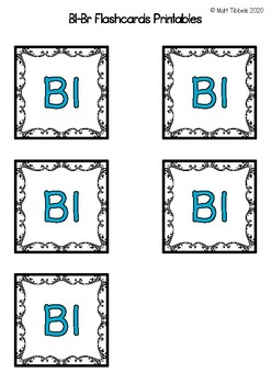 Bl - Br Flash Cards for Memory or Sorting