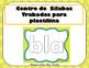 Bl Centro de Silabas Trabadas Grupos Consonanticos StationsBilingual Mrs.Partida
