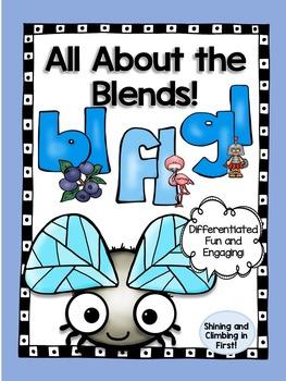 L Blends Bl, Fl, and Gl Word Work Printables