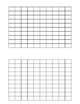 Blank 1-100 chart first grade Spanish and English two charts per page