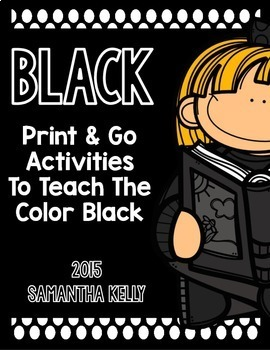 The Color Black Printables