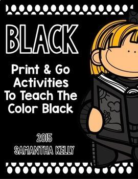 The Color Black Printables