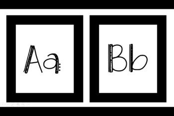 Black ABC Flash Cards