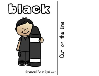 Black Adapted Book for Preschool, Pre-K and Special Needs