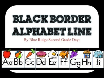 Black Alphabet Line With Pictures