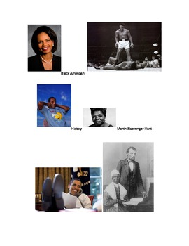 African American History Month Scavenger Hunt