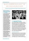 Black Americans and the Second World War Study Guide