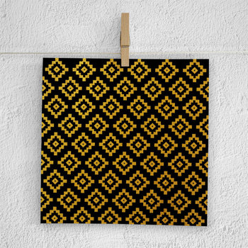 Black And Gold Aztec Papers