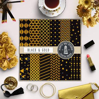Black And Gold Digital Paper {Pretty Graphics}