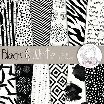 Black And White - Digital Papers