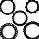 Black And White Frames Clip Art (Digital Use Ok!)