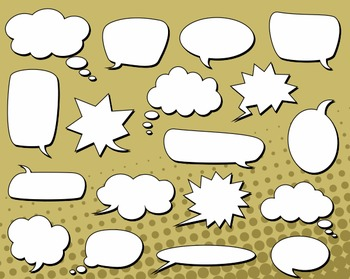 Black And White Talking And Thinking Bubbles