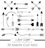 Black Arrows Clipart - Vector clip art