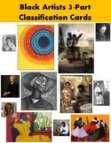 Black Artists 3-part classification cards