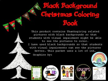 Black Background Christmas Coloring Book