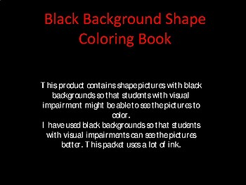 Black Background Shape Coloring Book