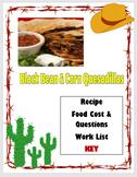 Black Bean & Corn Quesadillas Lab