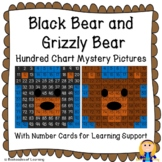 Black Bear & Brown Grizzly Bear Hundred Chart Mystery Pictures with Number Cards