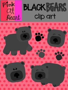 Black Bears Clip Art