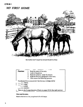 Black Beauty 10 Chapter Novel with Student Activities and Answer Keys