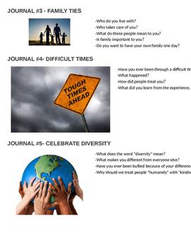 Black Beauty Journal Responses