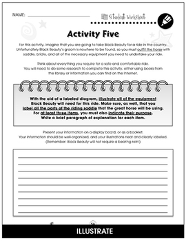 Black Beauty - Literature Kit Gr. 5-6 - BONUS WORKSHEETS