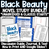 Black Beauty Novel Study BUNDLE for In-Person and Distance