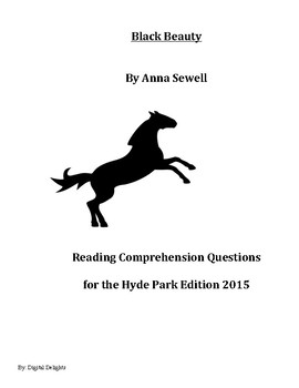 Black Beauty Reading Comprehension Questions Hyde Park Edition