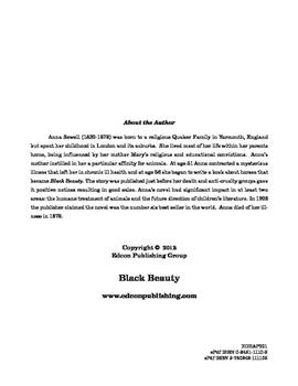Black Beauty 10 Chapter Reader