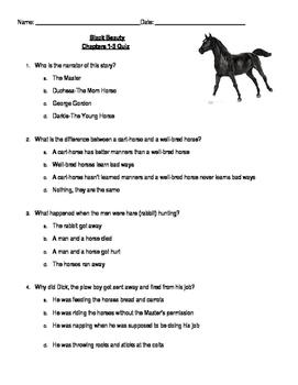 Black Beauty Vocabulary & Quizzes