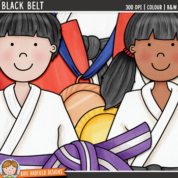 "Karate Clip Art: ""Black Belt"""