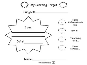 Black Belt Reader Learning Targets