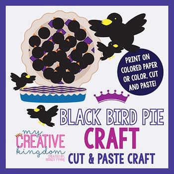 Black Bird Pie - Sixpence Rhyme Craft