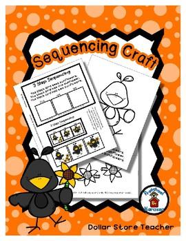 Black Bird & Sunflowers - Sequencing Reader Mat & Craft Page