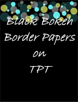 Black Bokeh Border Papers